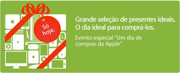 Um dia especial de compras da Apple