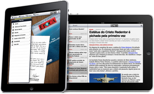 Revista Época no iPad