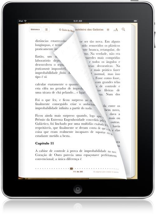 iPad como leitor de livros eletrônicos