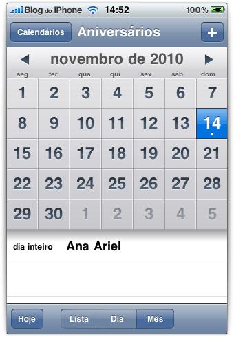Photo of [aperitivo OS 4] Calendário nativo de aniversários no iPhone e iPod touch