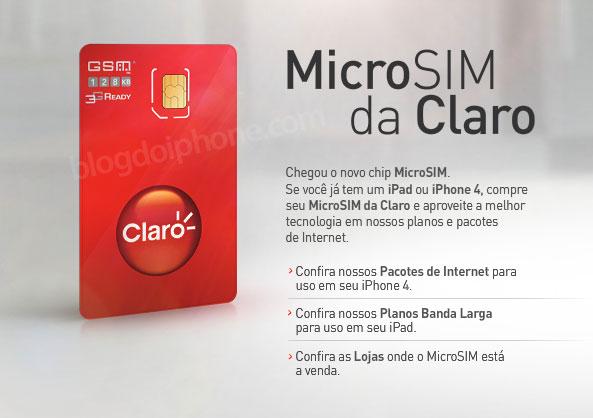 micro-SIM da Claro