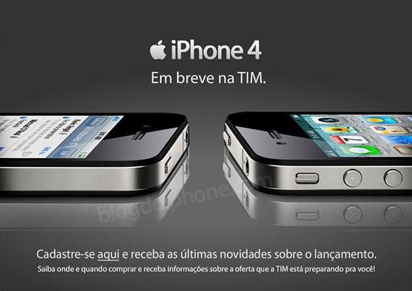 Photo of Operadora TIM disponibiliza página para cadastro de clientes interessados no iPhone 4