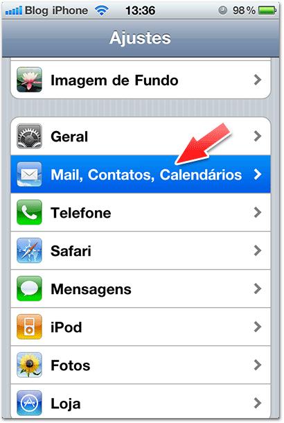 Configurando o Hotmail