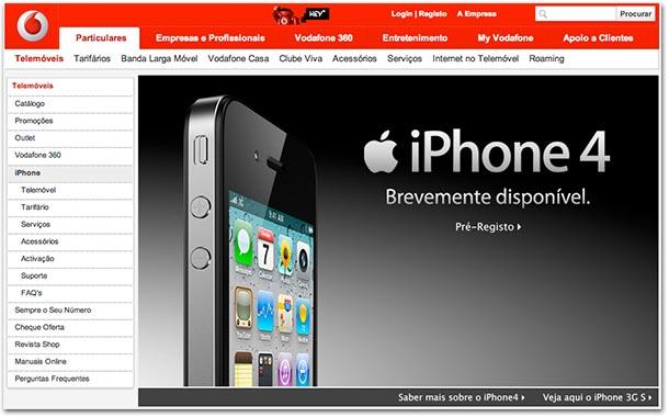 Photo of Operadoras portuguesas já anunciam lançamento do iPhone 4 em Portugal para breve (atualizado)