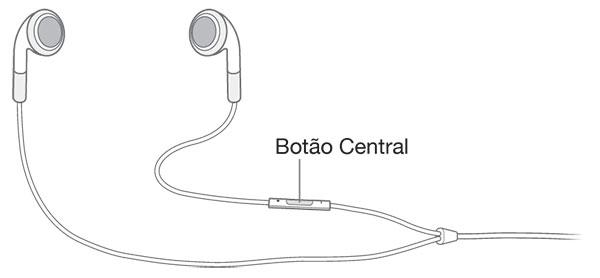 Botão do fone de ouvido