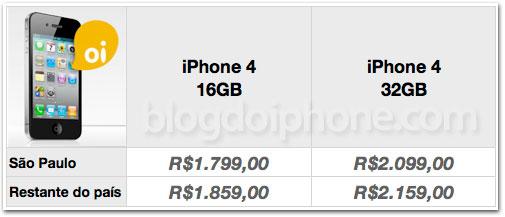 Photo of Oi confirma oficialmente os mesmos preços do iPhone 4 previamente divulgados aqui no Blog