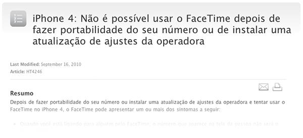 Photo of Apple publica página de suporte para casos de ativação do FaceTime em números portados