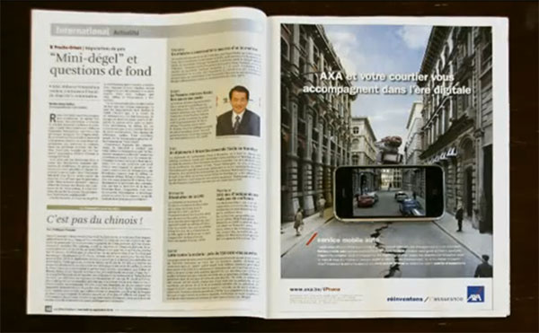 Photo of Agência de publicidade usa iPhone para interagir com uma revista impressa