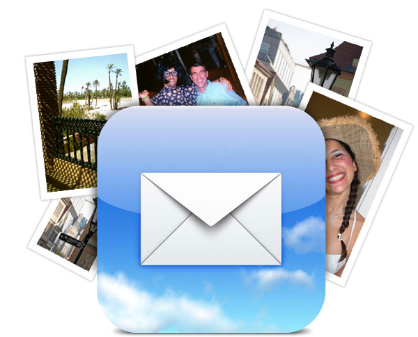 Fotos em emails