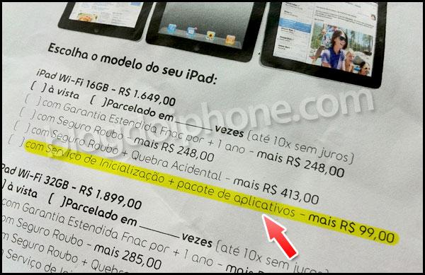 Oferta de pacote de aplicativos para iPad