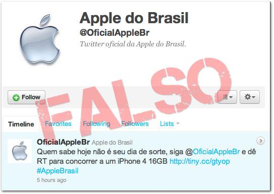 Photo of [ALERTA] Perfil falso da Apple Brasil no Twitter tenta enganar usuários