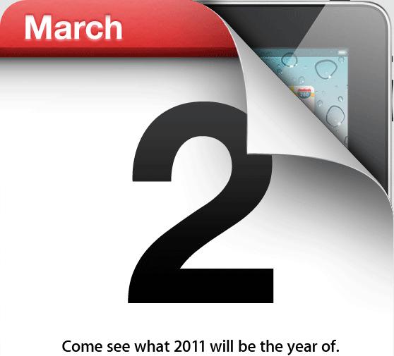 Evento especial iPad 2