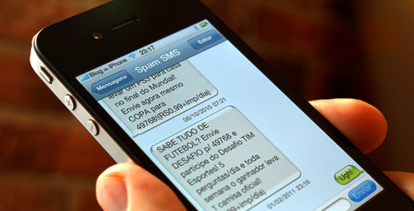 SPAM pelo SMS