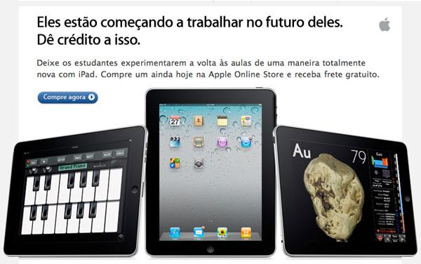Apple faz campanha promovendo o iPad para a volta às aulas no Brasil d879821ff39