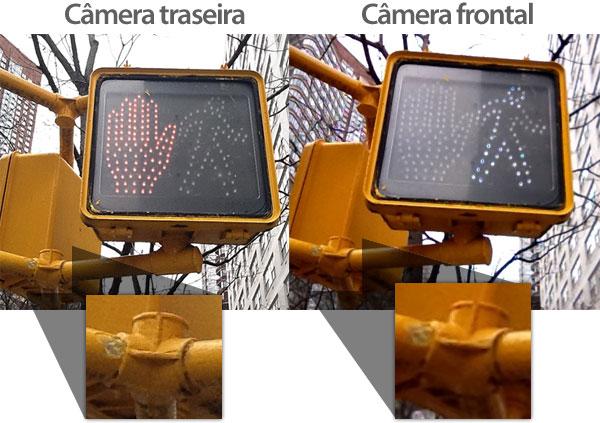 Comparação entre câmera frontal e traseira do iPad 2