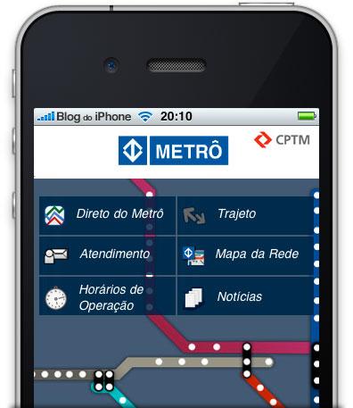 Photo of Página internet do metrô de São Paulo ganha versão para iPhone e iPod touch