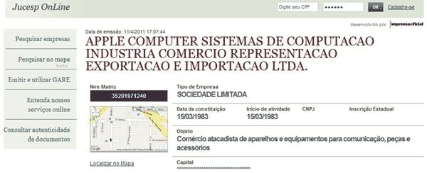 Photo of ERRATA: Apple não registra razão social de nova fábrica no Brasil