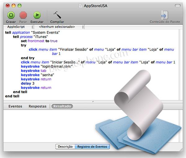 Apple Script para troca de contas