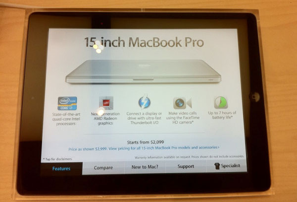 Photo of Apple Store 2.0: lojas da Apple usam iPads como cartaz interativo de produtos [atualizado]