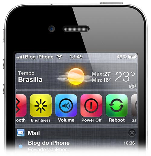 Photo of Jailbreak permitirá a adição de widgets direto na Central de Notificações do iOS 5