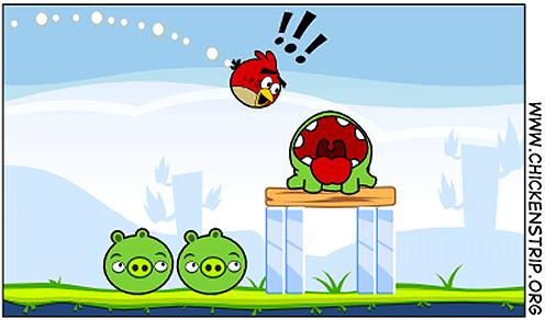 cutthebird1 [humor] Como seria a mistura entre os jogos Angry Birds e Cut the Rope?
