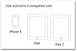 É possível recarregar a bateria do iPhone com a fonte do iPad? DescricaoAS