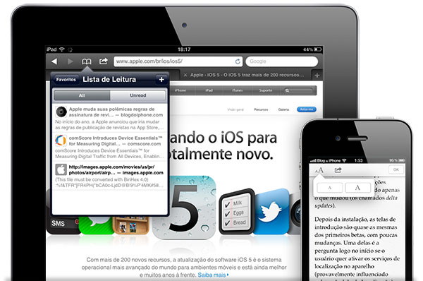 Photo of [aperitivo iOS 5] Conheça as mudanças que virão no Safari do iPhone, iPod touch e iPad