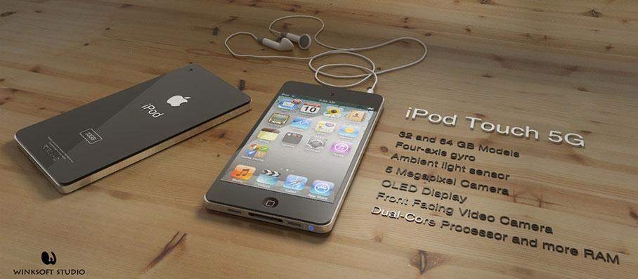 Photo of Conceito artístico permite imaginar como seria um iPod touch de 5ª geração