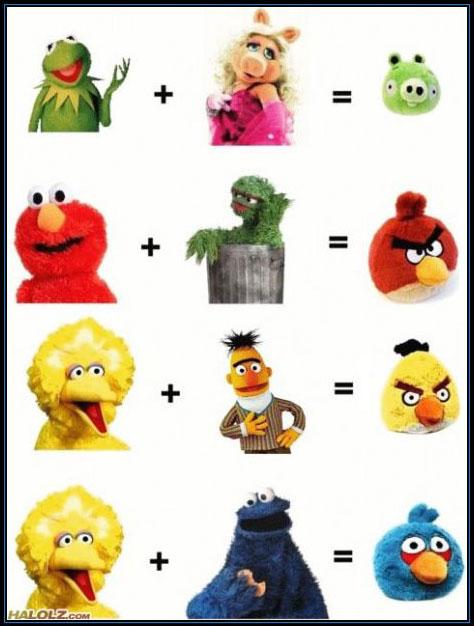 Origem dos personagens de Angry Birds