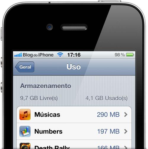 Armazenamento de aplicativos no iOS 5