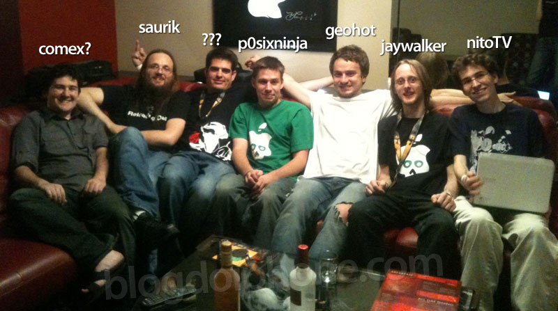 Photo of Geohot, Saurik e outros hackers do jailbreak confraternizam na DEF CON 19