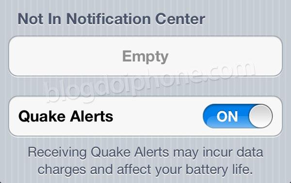 Alerta de terremotos