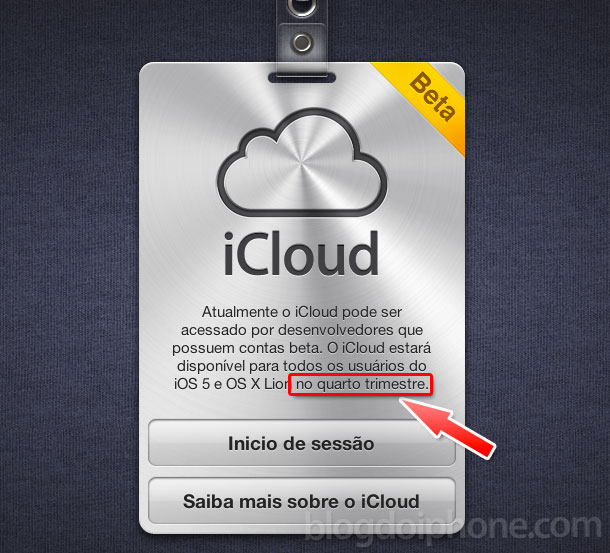 iCloud em português