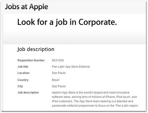Photo of Apple abre vaga de emprego em São Paulo para equipe da App Store
