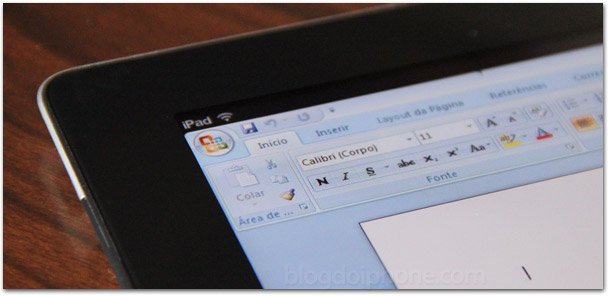 Word no iPad — MS Office