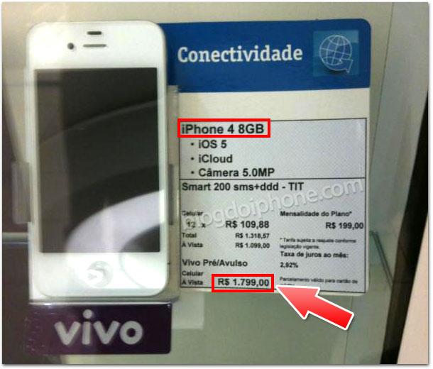Preço do iPhone 8GB no Brasil