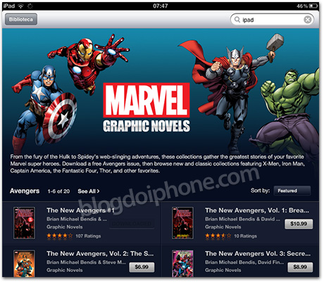 Photo of Marvel disponibiliza suas revistas em quadrinhos no formato iBook