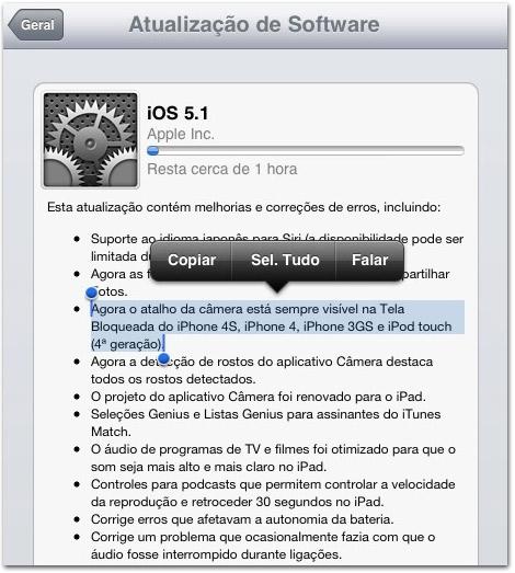 Photo of Apple libera iOS 5.1 para todos os atuais iPads, iPhones e iPods touch