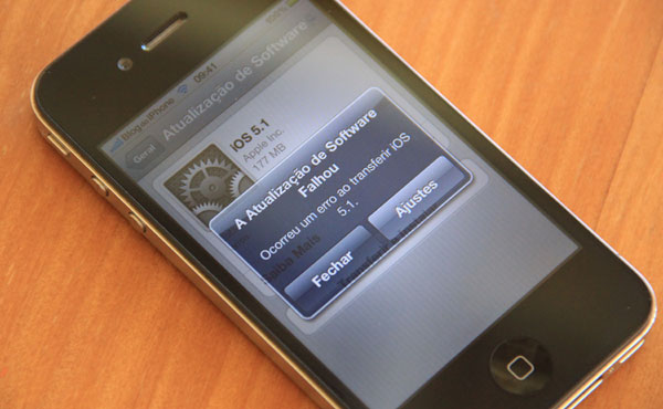 Problemas ao instalar o iOS