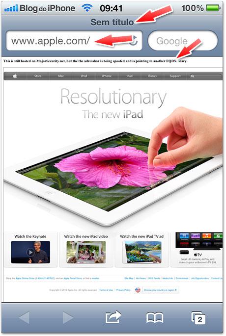 Photo of Vulnerabilidade no Safari pode fazer com que Apple libere um iOS 5.1.1 em breve