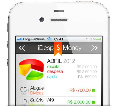Photo of Aplicativo iDesp Money ajuda você a controlar suas despesas pessoais direto no iPhone ou iPod touch