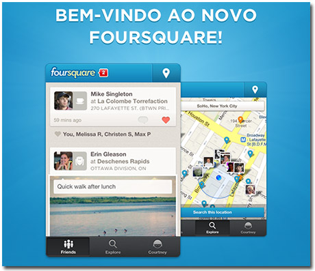 Photo of Aplicativo Foursquare ganha atualização e total remodulação gráfica