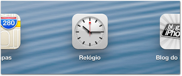 Relógio no iPad