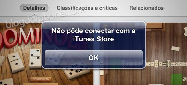 App Store com problemas