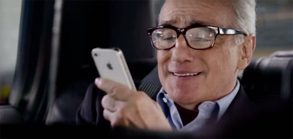 Photo of Martin Scorsese é o novo garoto propaganda do comercial do iPhone 4S