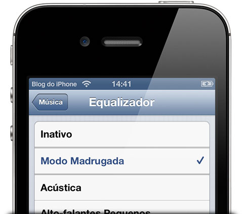 modo madrugada no iOS 6