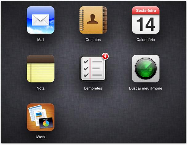 iCloud pelo navegador