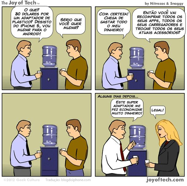 Photo of [humor] Até que ponto é caro um adaptador para o novo conector da Apple?