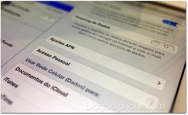 Acesso Pessoal no iPad