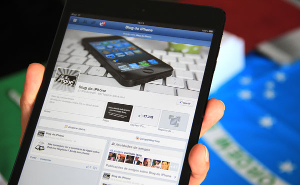Facebook no iPad mini